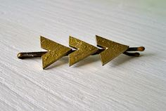 Arrow Hair Pins using Shrinky Dinks