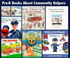 Picture books about Emergency Services Vehicles and Other Community Vehicles. Books and play ideas from The Good Long Road.