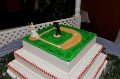 baseball theme wedding ideas | Our baseball themed wedding cake | ideas for the future,for my kids o ...