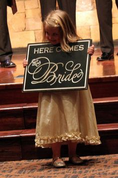 Here Comes the Bride  custom wedding sign  photo by back40life, Etsy.com