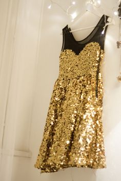Gold sequins, black sheerness, too fabulous!