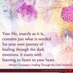 New Creative Grief prompt posted on the Studio blog: Listening to your heart... - http://griefcoachingcertification.com/2014/10/listening-to-your-heart/
