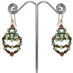 Leaf Earrings Pattern by Deborah Roberti at Sova-Enterprises.com