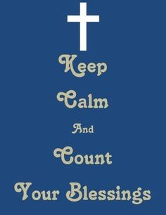 {Freebie} Keep Calm and Count your Blessings Poster