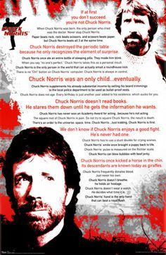 Love me some Chuck Norris.