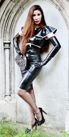 Sexy latex dress