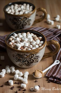 Milk Chocolate Peanut Butter Hot Chocolate | www.themessybakerblog.com by jenniephaneuf, via Flickr
