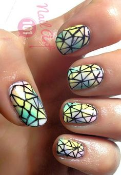Crystal Nails - Want to do it yourself? Click on the image for the tutorial!