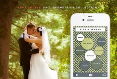 Appy Couple's Fall Geometrics Collection. The most stylish way to create your own wedding app + website!