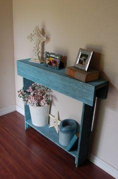 Cedar wood console table