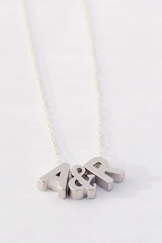 Tiny Initial Necklace Silver Initial Necklace