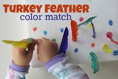 Feather color match that works on fine motor skills too.
