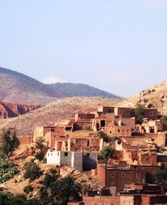 A village pit stop on the way to the Atlas Mountains of Marrakech.