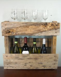 Rustic Wine Rack / Small Rustic Wine Rack / by MyBrothersBarn, $45.00