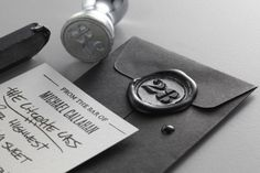 identity branding, hongkong, wax seals, stamps, design wise, black, stationery, stationeri, wax seal packaging