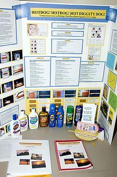 Science Fair - sunscreen idea