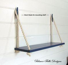 Nautical shelves. Awesome idea!!