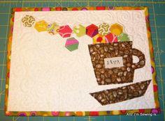 Mug rug or place mat.  Cute!