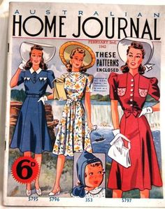 Vintage 1942 Australian Home Journal magazine with patterns