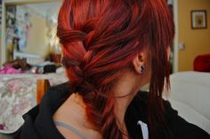 Red hair with braids