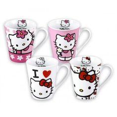 Hello Kitty - 4 PieceCoffee Mug Set