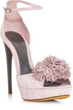 ALEXANDER MCQUEEN Pom Pom Highheel Shoes - Lyst