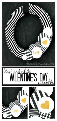 Black And White Valentines Day Wreath!