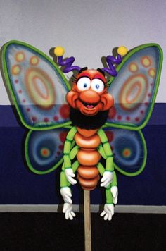 Butterfly airbrushed foam puppet