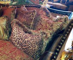 Calamity Janes Trading Co., Boerne, TX  Custom fabric/sofa detail. Gorgeous