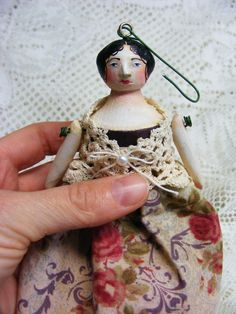 Victorian miniature doll ornament