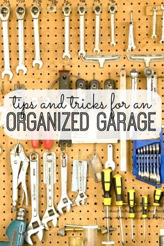 Use these simple tips and tricks to organize your garage - for good! organize your garage, organizing your garage, organ garag