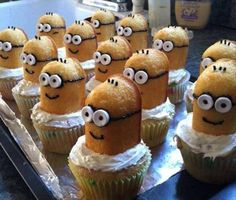 minion twinki, minions, idea, minion cupcakes, twinkies, food, parti, dessert, kid