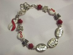 Aplastic Anemia/MDS Love Hope and Faith Awareness Bracelet with butterflies!