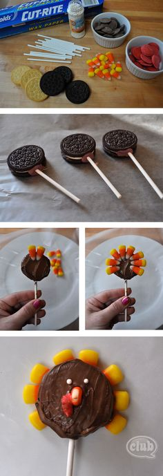 Turkey cookie pop steps
