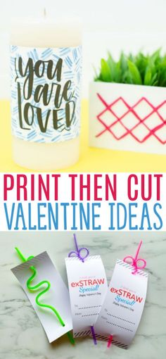 These Print then Cut Valentine Ideas make it easy to create handmade Valentine projects with our Cricut machines. #cricut #diecutting #diecuttingmachine #cricutmachine #cricutmaker #diycricut #cricutideas #cutfiles #svgfiles #diecutfiles #diycricutprojects #cricutprojects #cricutcraftideas #diycricutideas #valentine #valentinesday