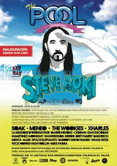 Inauguración de The Pool Waterparties en Valencia  Terrazza KM 10, Alfafar  16 junio 2012 a las 14:00h.