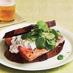 Salmon Sandwiches | MyRecipes.com #myplate #protein #grain