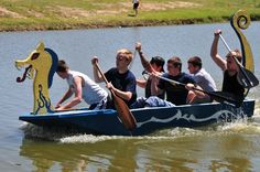 Can boats be built out of just cardboard and duct tape? Yes they can! Dorm floors pit their own cardboard boats against each other at LeTourneau University's annual cardboard boat race. http://www.letu.edu/