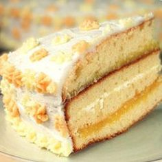 Lemon Cake with Lemon Filling and Lemon Butter Frosting Recipe - Click the image for the recipe!