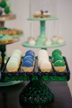 French macarons by Le Pop Shop for Minted and Vintage emerald and gold dessert table for The Cream Event LA 2013 | Photo by Raya Carlisle