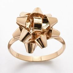 LC Lauren Conrad Gold Tone Bow Ring