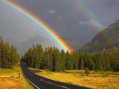 Double Rainbow, Yellowstone National Park, Wyoming  photo via view