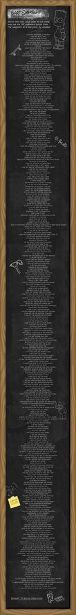 Every Bart Simpson chalkboard quote. Ever.