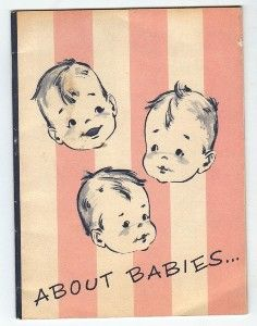 "pink ❤  ""About Babies""...1950's baby clothing booklet"