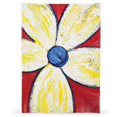 Painted canvas pictures or watercolor cards
