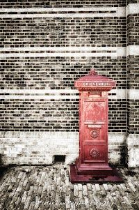 vintage red mailbox