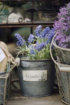 flower pots, garden