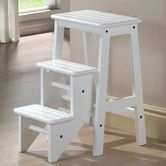 "Found it at Wayfair - 24"" Step Stool in  White  79$    24"" H x 14.5"" W x 24"" D    21 lbs"