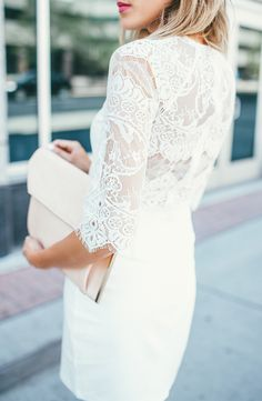 Lace Sleeve Dress