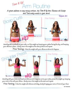 Tone It Up Arm Routine. Get those beach biceps;)